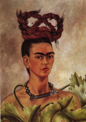 Reproduction oil paintings - Frida Kahlo - Self Portrait With Braid 1941