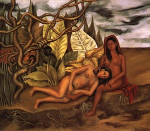 Reproduction oil paintings - Frida Kahlo - Two Nudes In A Forest 1939