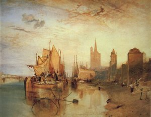 Reproduction oil paintings - Turner - Cologne The Arrival of a Packed Boat Evening 1826