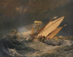 Reproduction oil paintings - Turner - Fishing Boats Entering Cal 1803