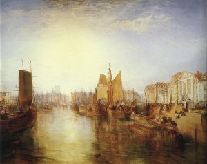 Reproduction oil paintings - Turner - The Harbor of Dieppe 1826