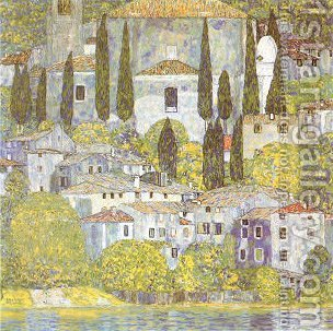 The Church at Cassone Sul Garda by Gustav Klimt - Reproduction Oil Painting