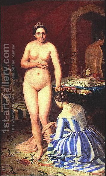 Diana Dressing 1846 by Aleksei Gavrilovich Venetsianov - Reproduction Oil Painting
