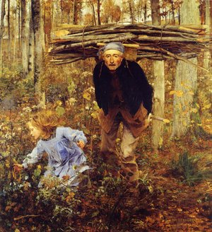 Jules Bastien-Lepage reproductions - The Wood Gatherer