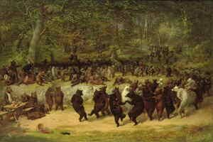 Famous paintings of Trees: The Bear Dance