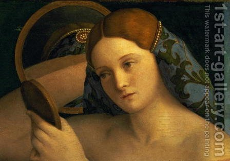 Young Woman at her Toilet 1515 by Giovanni Bellini - Reproduction Oil Painting