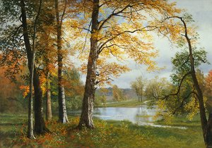 Famous paintings of Trees: A Quiet Lake