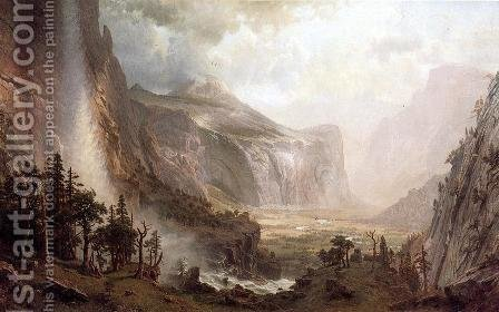 The Domes of Yosemite 1867 by Albert Bierstadt - Reproduction Oil Painting