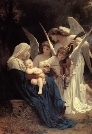 Famous paintings of Music: La Vierge Aux Anges