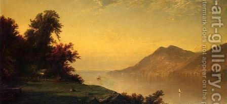 Hudson River at West Point 1864 by Alfred Thompson Bricher - Reproduction Oil Painting