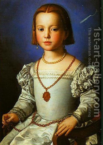 Portrait of Bia by Agnolo Bronzino - Reproduction Oil Painting