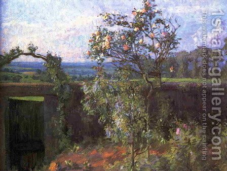 Landscape near Yerres 1877 by Gustave Caillebotte - Reproduction Oil Painting