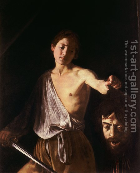 Caravaggio: David 3 - reproduction oil painting