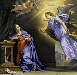 Reproduction oil paintings - Philippe de Champaigne - The Annunciation ca 1644