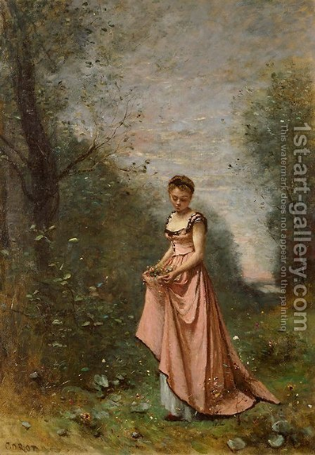 Jean-Baptiste-Camille Corot: Springtime of Life - reproduction oil painting