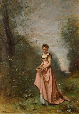 Reproduction oil paintings - Jean-Baptiste-Camille Corot - Springtime of Life