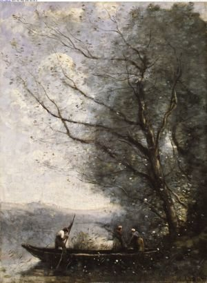 Reproduction oil paintings - Jean-Baptiste-Camille Corot - The Ferryman ca 1865