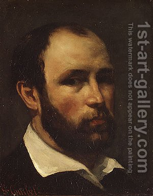 Portrait of a Man, probably ca. 1862 by Gustave Courbet - Reproduction Oil Painting