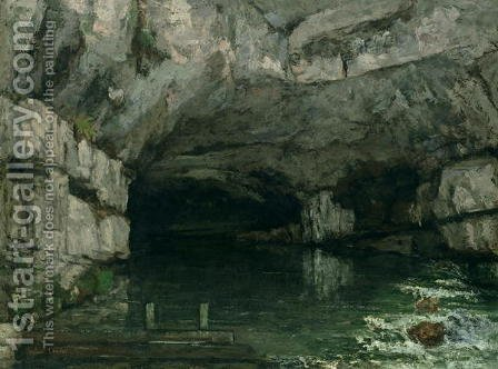 The Grotto of the Loue 1864 by Gustave Courbet - Reproduction Oil Painting