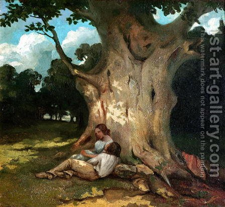 The Large Oak 2 by Gustave Courbet - Reproduction Oil Painting
