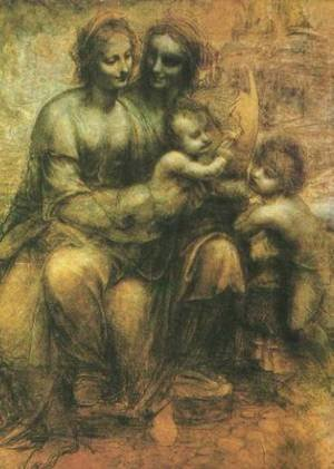 Reproduction oil paintings - Leonardo Da Vinci - Virgin and Child with John the Baptist and St Anne