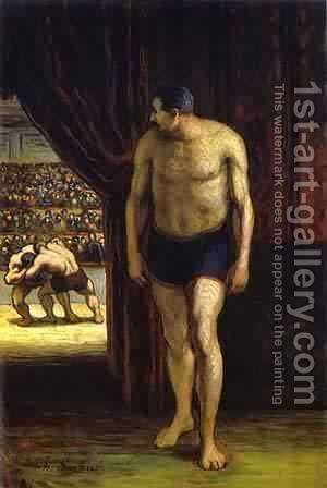 The Wrestler 1852-53 by Honoré Daumier - Reproduction Oil Painting