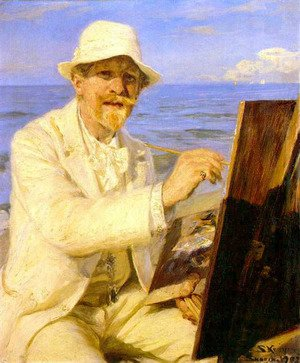 Reproduction oil paintings - Peder Severin Kroyer - Autorretrato del pintor 1