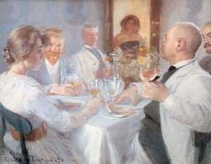 Reproduction oil paintings - Peder Severin Kroyer - Comida en Antino