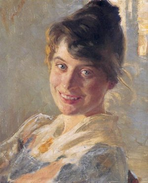 Reproduction oil paintings - Peder Severin Kroyer - Marie Kroyer Portrait