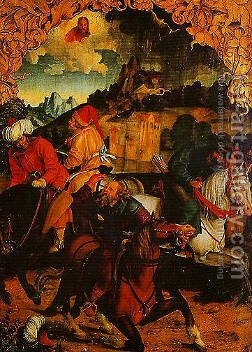 The Calling of St Peter and The Arrest of St Paul2 by Hans Suss von Kulmbach - Reproduction Oil Painting