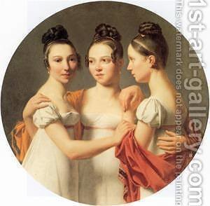 Le Trois Graces by Gustave Doyen - Reproduction Oil Painting