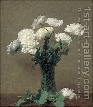 Poppies 1891 by Ignace Henri Jean Fantin-Latour - Reproduction Oil Painting