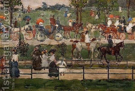 Central Park 1900 by Toulouse-Lautrec - Reproduction Oil Painting
