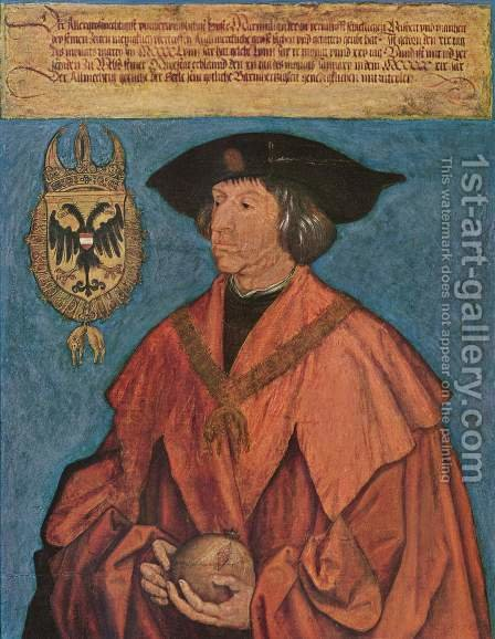 Emperor Maximilian I 1 1519 by Albrecht Durer - Reproduction Oil Painting