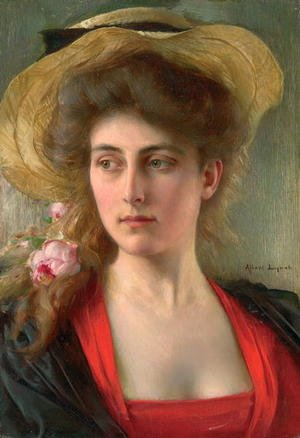 Reproduction oil paintings - Albert Lynch - Elegante