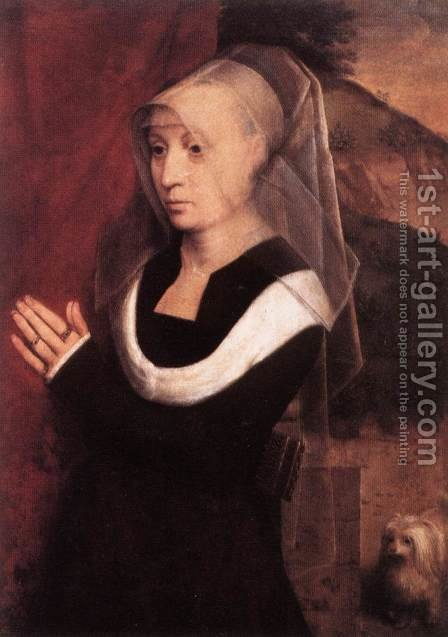 Portrait Of A Praying Woman 1485 by Hans Memling - Reproduction Oil Painting