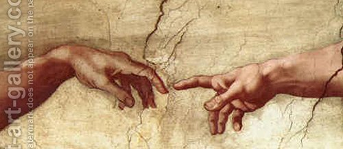 Huge version of Creation of Adam Hands only
