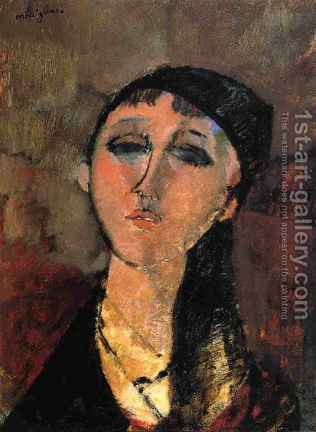Portrait of a Young Girl (aka Louise) 1915 by Amedeo Modigliani - Reproduction Oil Painting
