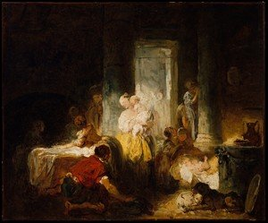 Reproduction oil paintings - Jean-Honore Fragonard - Italian Interior ca 1760