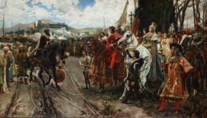 Famous paintings of Horses & Horse Riding: The Surrender of Granada in 1492