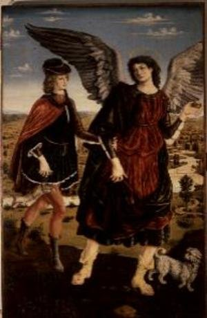 Reproduction oil paintings - Antonio Pollaiolo - Tobias and the Archangel Raphael