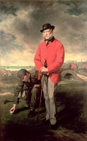 Famous paintings of Golf: Portrait of John Whyte Melville of Bennochy and Strathkinness Captain of the Club 1823
