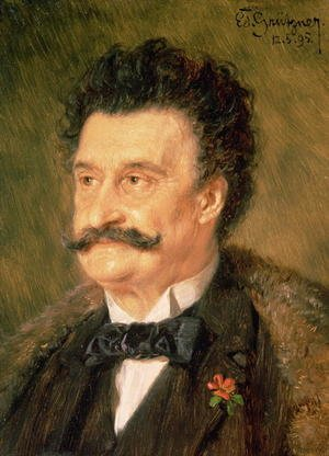 Reproduction oil paintings - Eduard Von Grutzner - Johann Strauss the Younger 1895