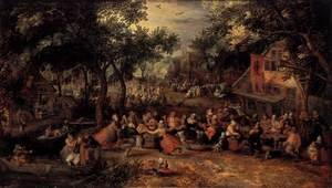 Reproduction oil paintings - David Vinckboons - Kermis 1605