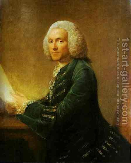 Portrait Of Dr William Hunter 1760 by Allan Ramsay - Reproduction Oil Painting