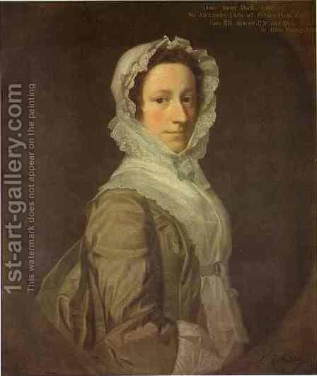 Portrait Of Janet Dick 1748 by Allan Ramsay - Reproduction Oil Painting