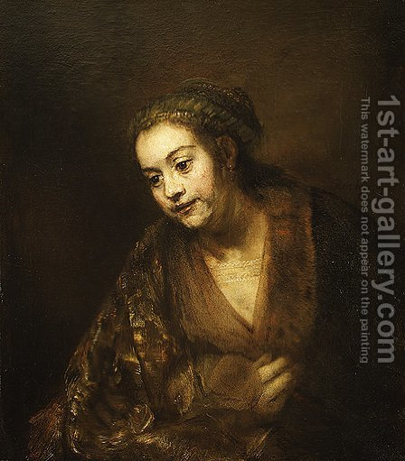 Hendrickje Stoffels 1660 by Harmenszoon van Rijn Rembrandt - Reproduction Oil Painting