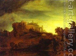 Landscape With A Castle 1632 by Harmenszoon van Rijn Rembrandt - Reproduction Oil Painting