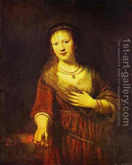 Saskia At Her Toilet 1641 by Harmenszoon van Rijn Rembrandt - Reproduction Oil Painting
