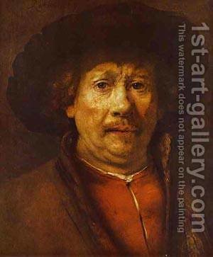 Self Portrait 1656-58 by Harmenszoon van Rijn Rembrandt - Reproduction Oil Painting